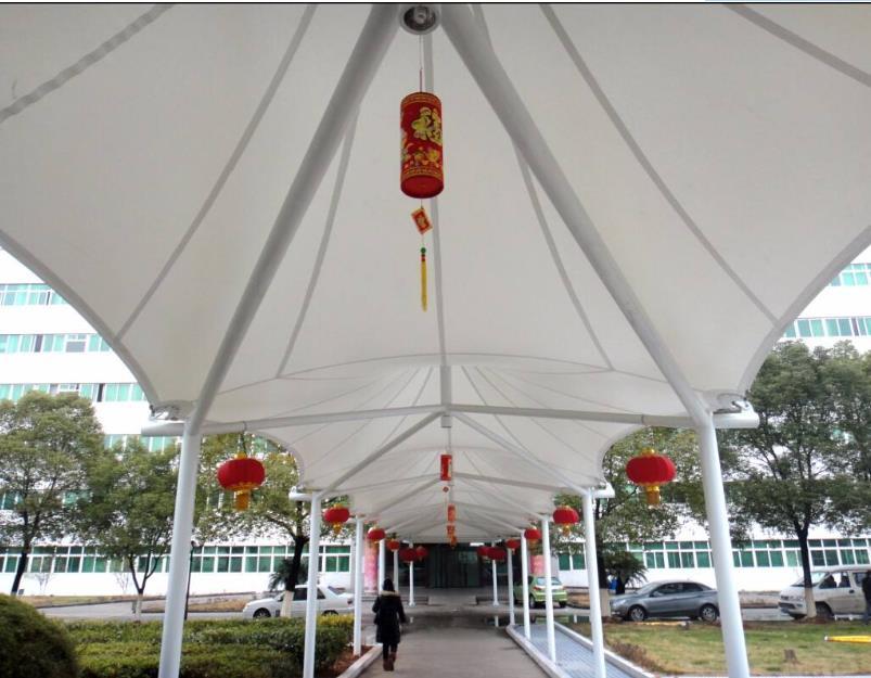办公楼园区雨棚遮阳棚